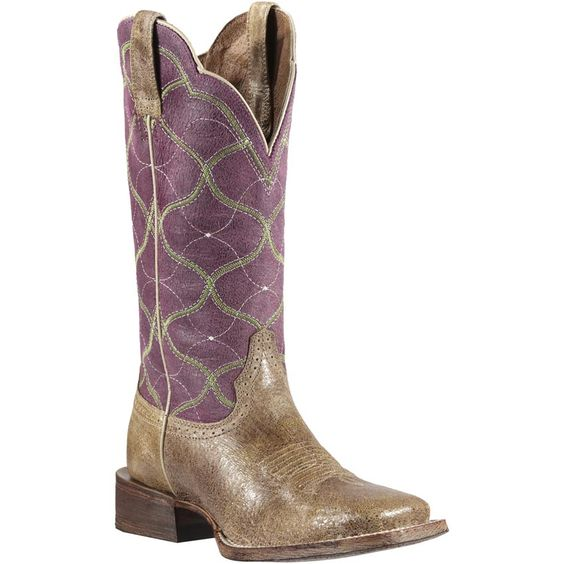 Ariat Women's Big City Western Boots- the purple and green are ...