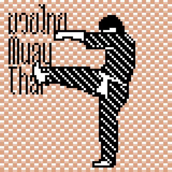 Muay Korat, Muay Thai, Muay Boran, มวยโคราช มวยโบราณ 8bit Pixel Art