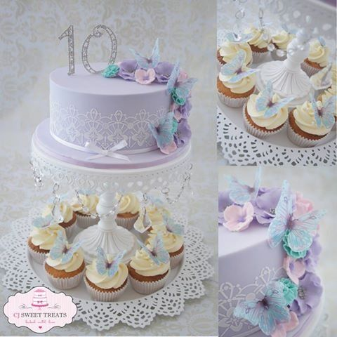 Tayla's Butterflies - by cjsweettreats @ CakesDecor.com - cake decorating website