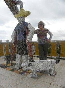 Susan Platt toured round Cuba looking at the art and meeting the artists - this reminds me of Nikki de Saint Phalle's work but it is by Jose Fuster of Havana. I don't think Susan has written a book about it yet!