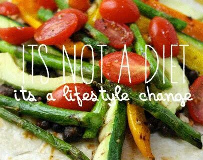 Its not a diet! Its a lifestyle change!