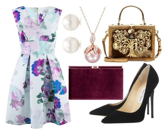 """#307"" by kpopkdrama1 ❤ liked on Polyvore featuring moda, Closet, Dolce&Gabbana, Tiffany & Co., Jimmy Choo e Monsoon"