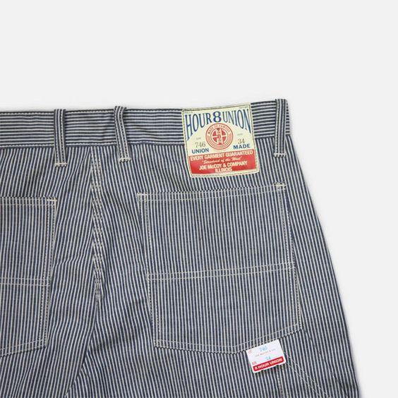 8 Hour Work Shorts - Hickory Stripe