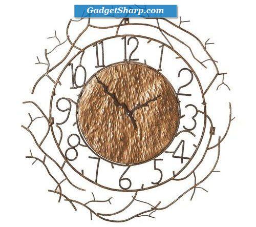 Branch design wall clock