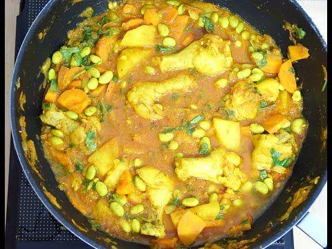 EDAMAME CHICKEN CURRY - http://2lazy4cook.com/edamame-chicken-curry/