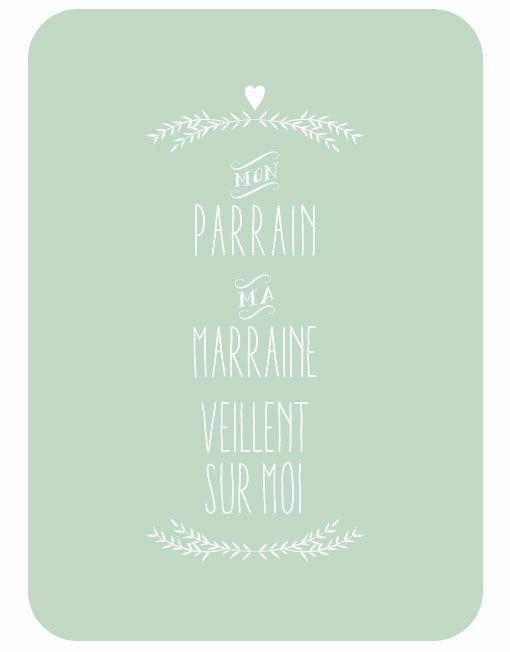 Carte mon_parrain_ma_marraine_veillent_sur_moi Kit Baptême Catho Rérto©