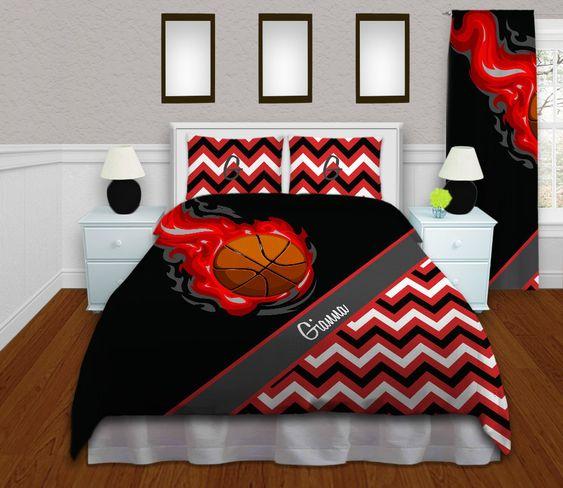 basketball duvet cover red teen bedding kids chevron duvet sets