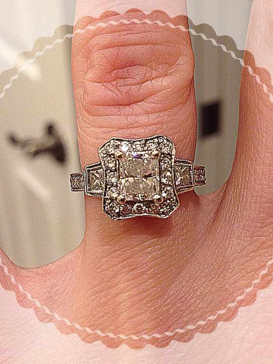 I love my vintage looking wedding ring! So happy my hubby let me pick it out!!