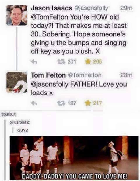 I love that Jason Isaacs and Tom Felton are so close IRL
