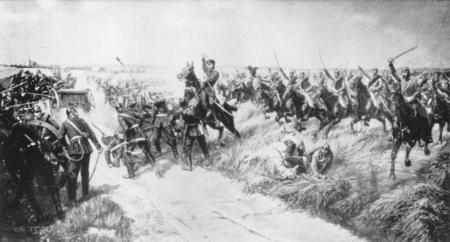 Attacke der Cambridge-Dragoner-Schwadron des Rittmeisters von Einem in der Schlacht bei Langensalza (1866)