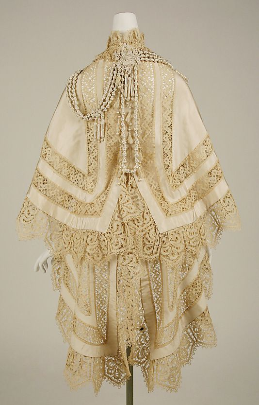 Mantle Jay's of London  (British) Date: ca. 1863 Culture: British Medium: silk Dimensions: [no dimensions available] Credit Line: Gift of Miss Irene Lewisohn, 1937