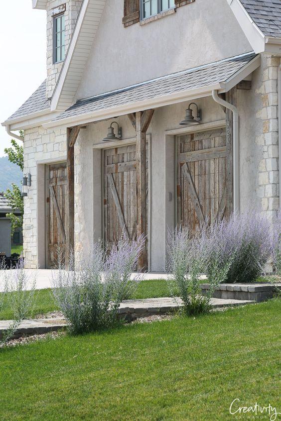 Reclaimed wood garage doors. Garage door trends. #garagedoors