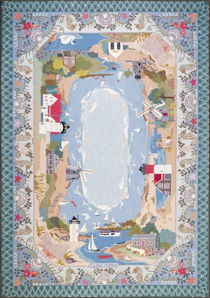 My Living Room Area Rug By The Sea By Claire Murray For