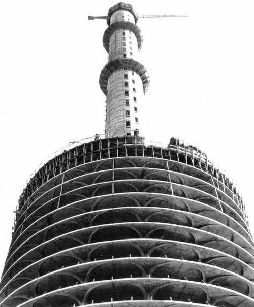 Marina City under construction in 1962