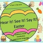 Listening First?  Find all the Easter eggs in this fun one-step, two-step, or three- step listening activity.  Also great for vocabulary and formulating descriptive ...