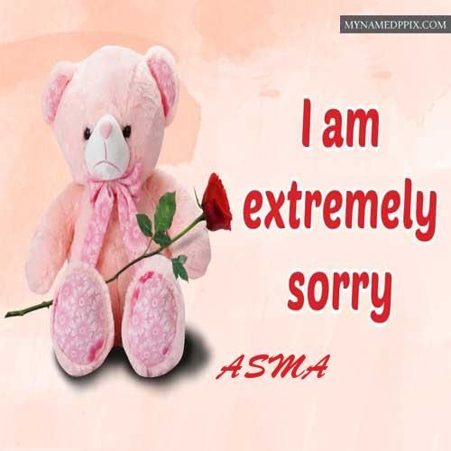 Extremely Sorry Cute Teddy Image Write Name Image Sent Sorry Images Teddy Images Greeting Card Image
