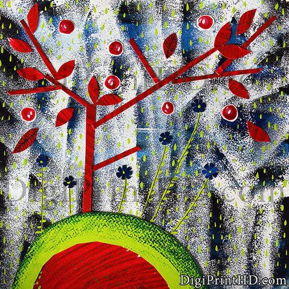 Botanical print, Tree wall art print, Botanical art, Botanical illustration, Botanical poster, Nursery wall art, Printable women gift: