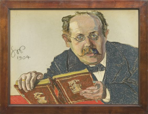 Stanisław Wyspiański, PORTRETY RODZINY STERNBACHÓW: Portret prof. Leona Sternbacha, 1904, pastel na papierze, 46,5×61,5cm www.agraart.pl