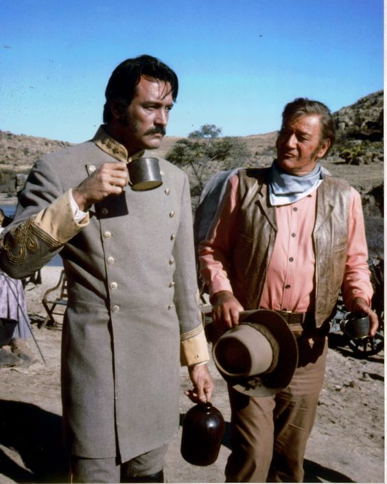 """The Undefeated"" - Rock Hudson & John Wayne in location on Mexico - Directed by Andrew McLaughlin - 20th Century-Fox."