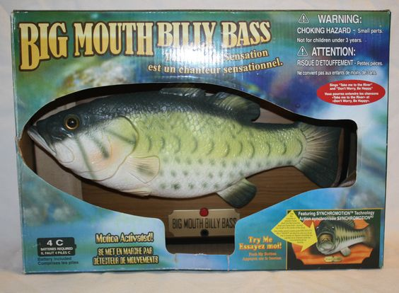 Singing fish big mouths and wall plaques on pinterest for Talking fish on wall