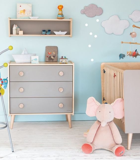 D couvrez la nouvelle chambre de moulin roty disponible - Chambre bleu et gris ...