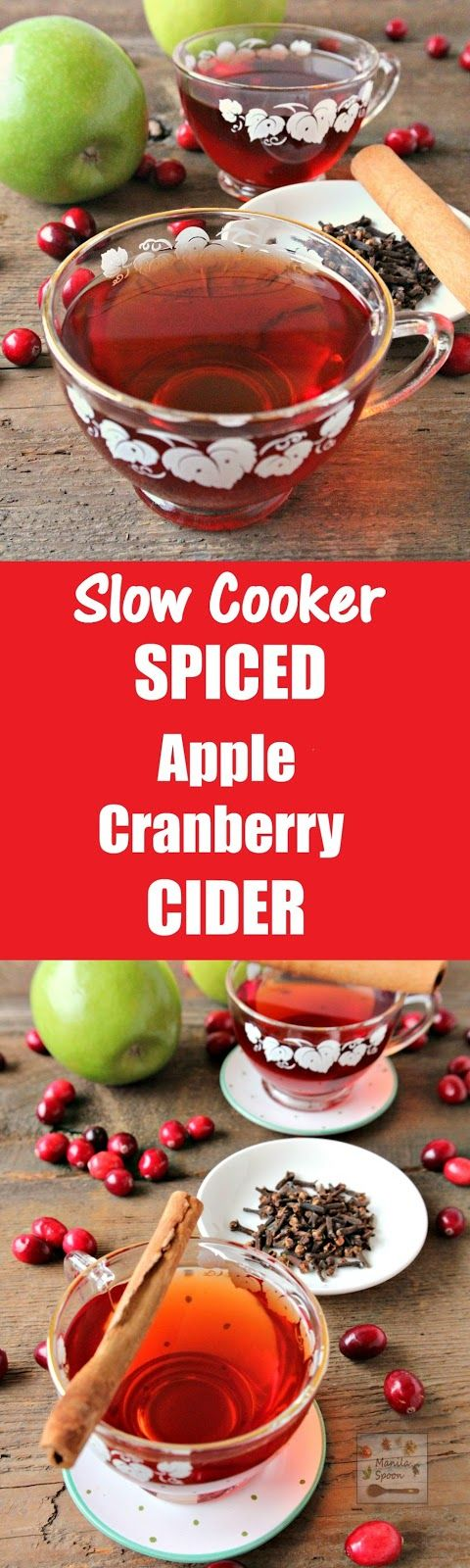 Cranberry Juice Slow Juicer : Spiced apples, Cranberries and Apples on Pinterest