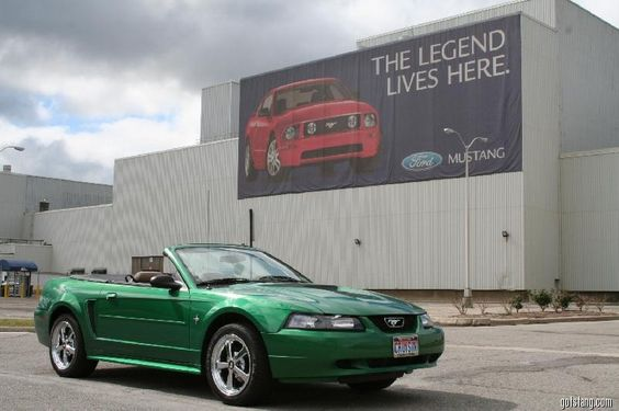 2000 Electric Green Convertible at the Ford Mustang Flat Rock plant