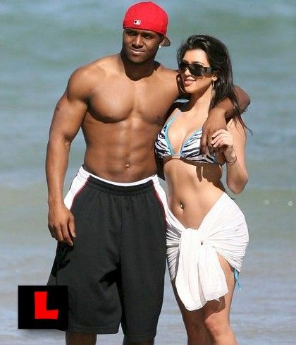 Reggie Bush And Kim Kardashian Beach Pinterest • T...
