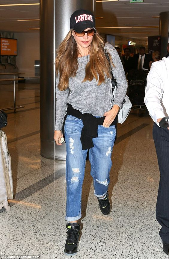 Been anywhere nice? Sofia Vergara showed that she can take it easy and kick-back with the best of them, as she cut a very casual figure on arrival at LAX airport, on Monday evening