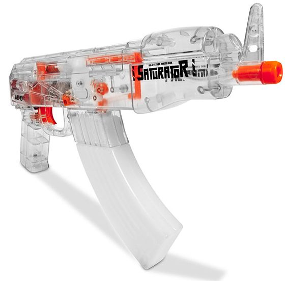 A cool water cannon gun, perfect for boys playing outside.