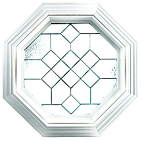 hy lite 23 x 23 satin nickel leaded beveled octagon picture window at menards house ideas. Black Bedroom Furniture Sets. Home Design Ideas