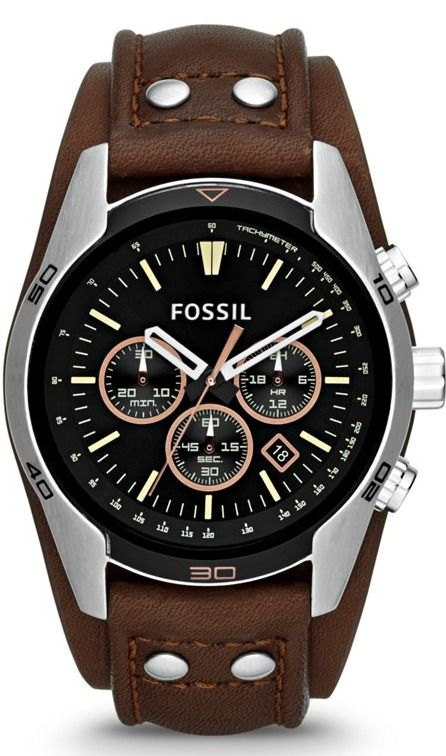 Fossil Watches, Men's Coachman Chronograph Leather Watch - Brown #CH2891