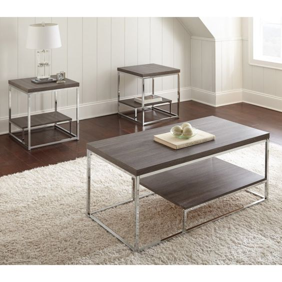 Steve Silver Lucia 3 Piece Occasional Table Set