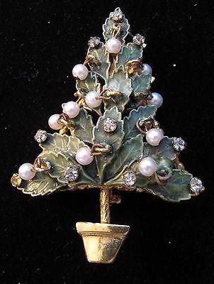 VINTAGE ORIGINAL BY ROBERT CHRISTMAS TREE PIN 801 NO RETURNS: