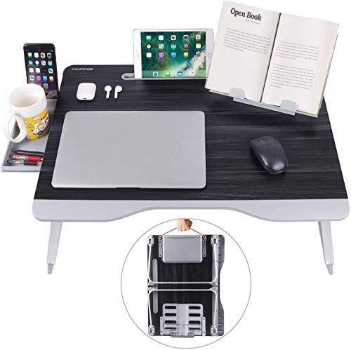 Amazing Offer On Laptop Bed Table Xxl Bed Trays Eating Laptops Writing Study Drawing Laptop Desk Bed Sofa Couch Folding Laptop Standwith Portable Boo In 2020 Laptop Desk For Bed Bed