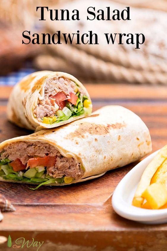 Classic Tuna Salad Sandwich Wraps With A Kick