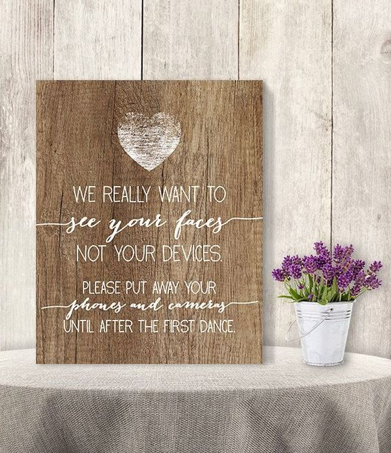 We Really Want To See Your Faces Not Your Devices // Unplugged Wedding Sign DIY/ Rustic Wood Sign, Printable PDF ▷ Instant Download von JadeForestDesign auf Etsy https://www.etsy.com/de/listing/231109715/we-really-want-to-see-your-faces-not