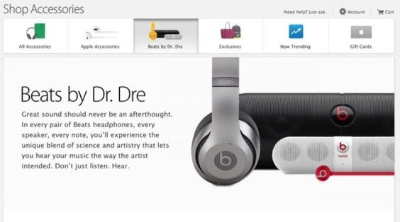 Beats By Dre dobio svoj odeljak u Apple online prodavnici - iMagazin