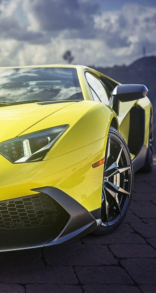 Iphone X Wallpaper 4k Yellow Lamborghini Aventador Supercar For
