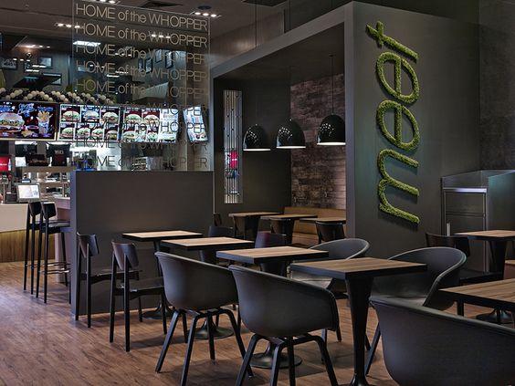 Burger king interior design pinterest