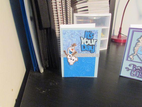 Olaf Birthday Card by TreasuredMomentsEtc on Etsy