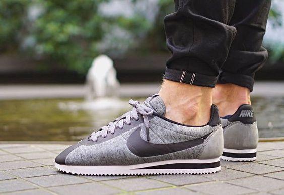 Nike Cortez Classic Tech Fleece Grey & Black