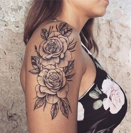 Drawing Tattoo Girl Simple 52 Ideas For 2019 Shoulder Tattoos For Women Rose Shoulder Tattoo Shoulder Tattoo