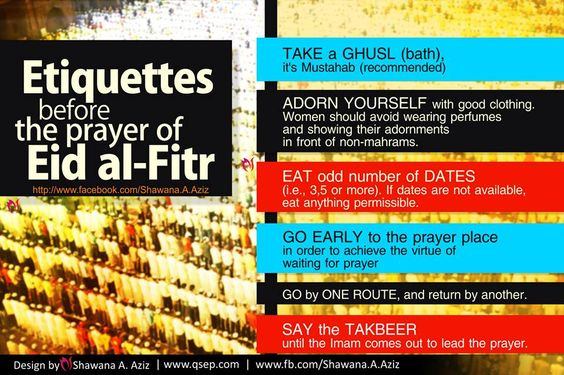 Ettiguettes of Eid al-Fitr