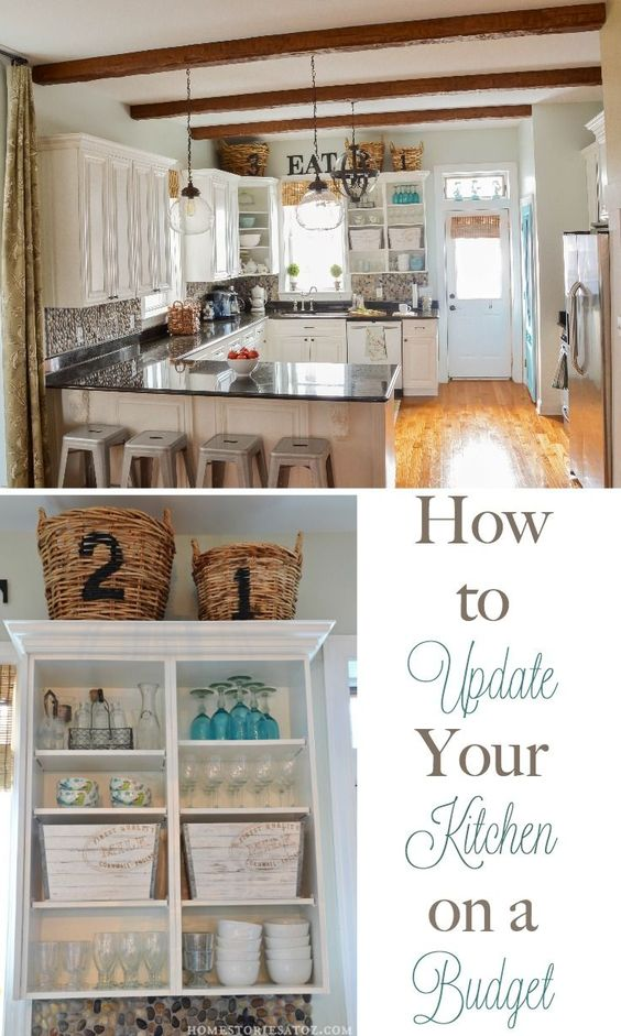 How To Update Your Kitchen On A Budget Wood Boxes The Doors And Glasses