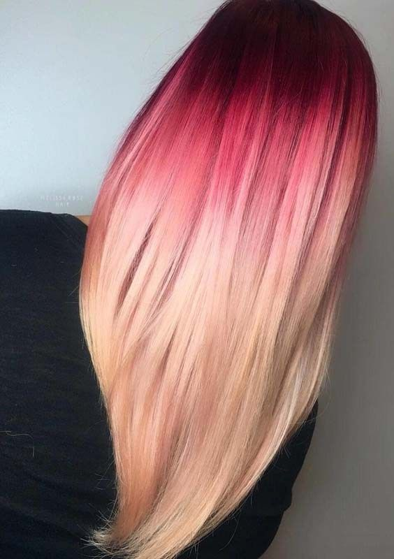 23+ Blonde hair with red roots ideas
