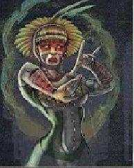 """Yebá Bëló - Conhecida também como """"A mulher que apareceu do nada"""", é uma divindade do mito de criação dos índios dessanas. Segundo eles,os seres humanos surgiram das folhas de coca (ipadu), que ela mascava."""