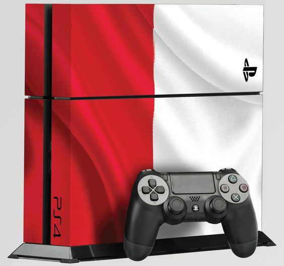 Fed up by your boring #PS4 ? Decorate it with your favorite flag! Find more #ideas here. #poland #decoration
