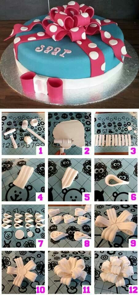 How to make a fondant bow.