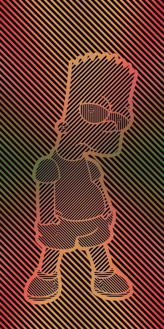 Bart Simpson Fond D Ecran Telephone Fond D Ecran Colore Fond D Ecran Dessin